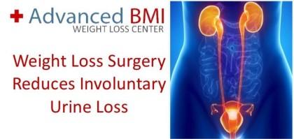 Weight Loss Surgery Reduces Involuntary Urine Loss