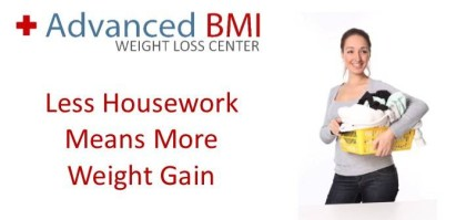 Less Housework Means More Weight Gain