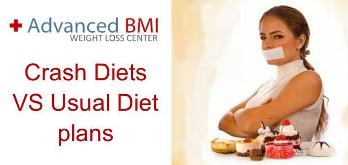 Crash Diets VS Usual Diet plans