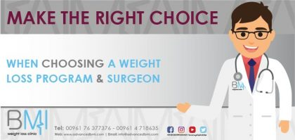 When Choosing a Weight Loss Program and Surgeon